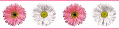 Flower Power Peel and Stick Wall Border - Wall Sticker Outlet