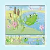 Hoppy Pond Wall Border