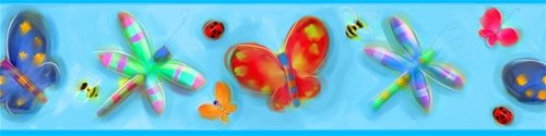 Jelly Bugs Peel and Stick Wall Border - Wall Sticker Outlet