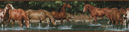 Wild Horses Peel and Stick Wall Border - Wall Sticker Outlet