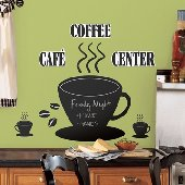 Coffee Cup Chalkboard Wall Stickers