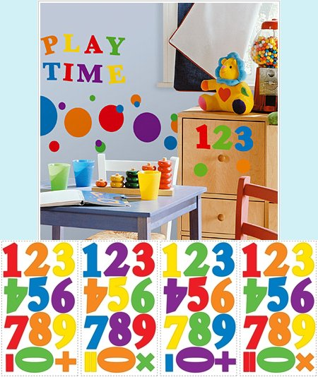 Colorful Numbers Wall Stickers - Wall Sticker Outlet