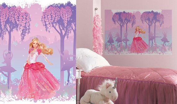barbie princess giant wall mural