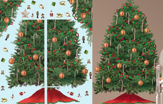 Christmas Tree Wall Mural palestencom