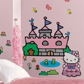 Hello Kitty Princess Castle Giant Wall Mural