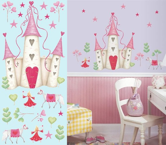 Princess Castle Wall Mural - Wall Sticker Outlet