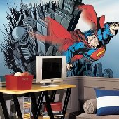 Superman Giant XL Wall Mural 10.5 x 6 Feet & Superhero Wall Stickers Decals and Super Hero Wall Murals