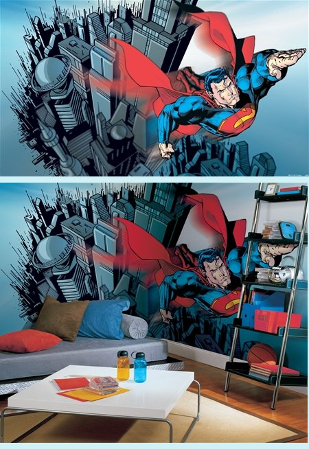 superman wall decal roselawnlutheran. Black Bedroom Furniture Sets. Home Design Ideas