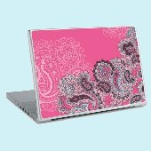 Pink Paisley Fur Laptop Sticker Skin SALE