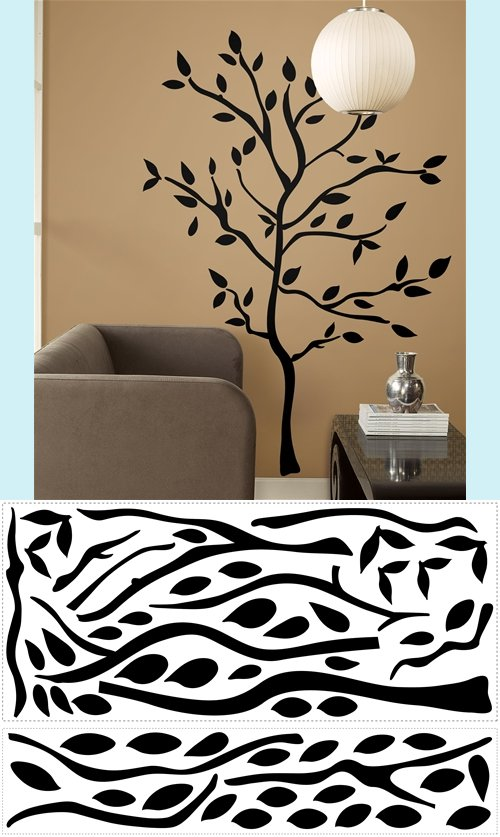 Tree Branches Wall Mural Stickers - Wall Sticker Outlet