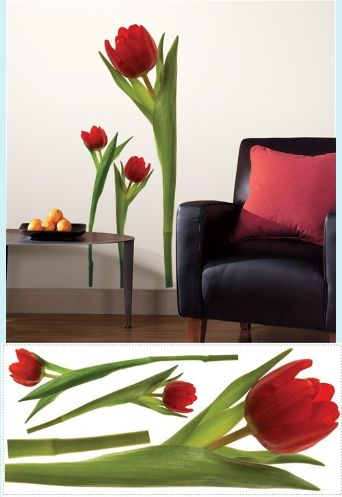 Tulip Wall Mural Stickers - Wall Sticker Outlet
