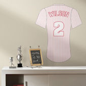 Baseball Jersey Pinstripe Custom Wall Decal