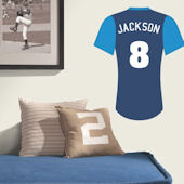 Baseball Jersey Solid Sleeve Custom Wall Decal