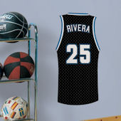 Basketball Jersey Dual Stripe Custom Wall Decal