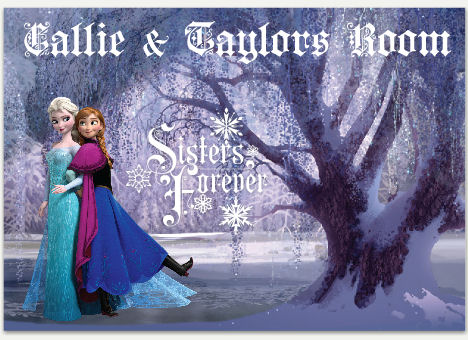 Disney Frozen Sisters Forever Personalized Decal - Wall Sticker Outlet
