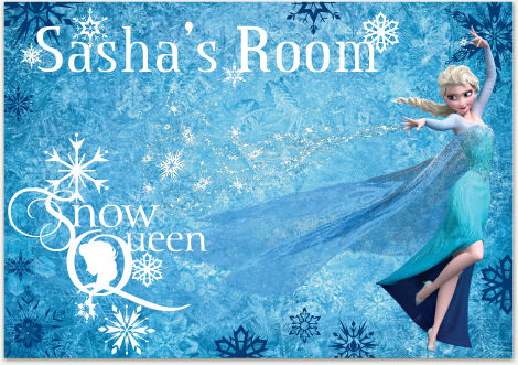 Disney Frozen Snow Queen Personalized Wall Decal - Wall Sticker Outlet