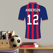 Soccer Jersey Vertical Stripe Custom Wall Decal