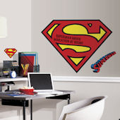 Superman Giant Logo with Dry Erase Wall Decal