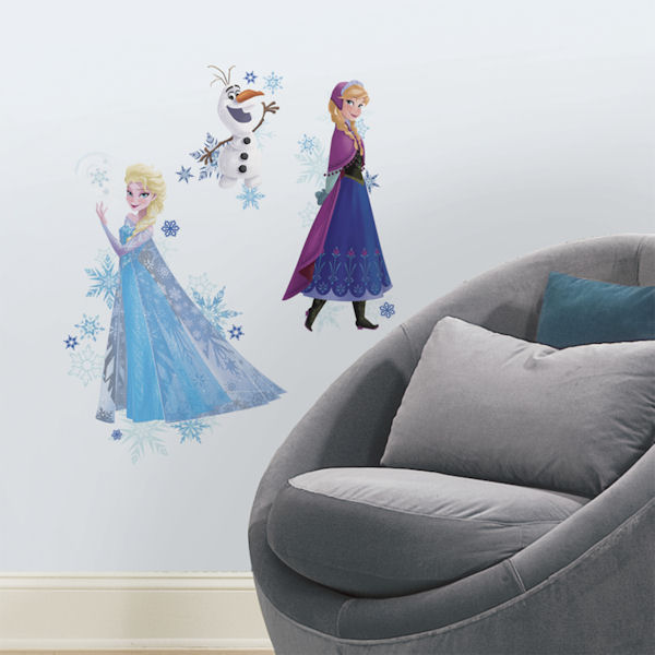 Frozen Anna Elsa and Olaf  Peel and Stick Decals - Wall Sticker Outlet