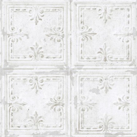 Tin Tile White Peel and Stick Wallpaper - Wall Sticker Outlet