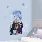 Disney Frozen Character Winter Scene Decals