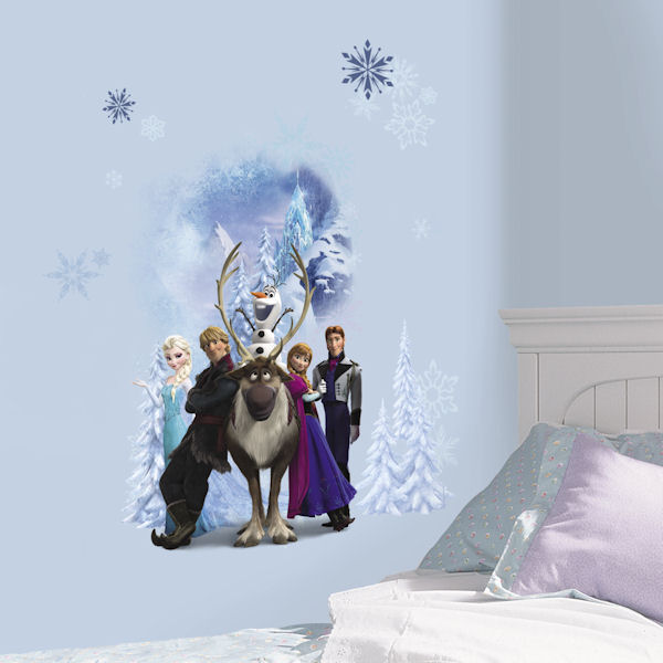 Disney Frozen Character Winter Scene Decals - Wall Sticker Outlet