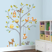 Woodland Fox and Friends Tree Decals
