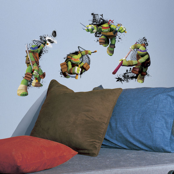 Teenage Mutant Ninja Turles in Action Decals - Wall Sticker Outlet