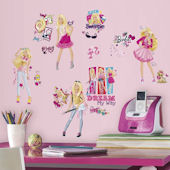 Barbie Pinktastic Peel and Stick Wall Decals