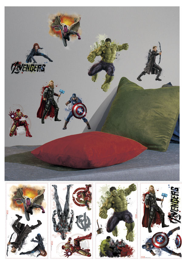 Avengers Age of Ultron Peel and Stick Wall Decals - Wall Sticker Outlet