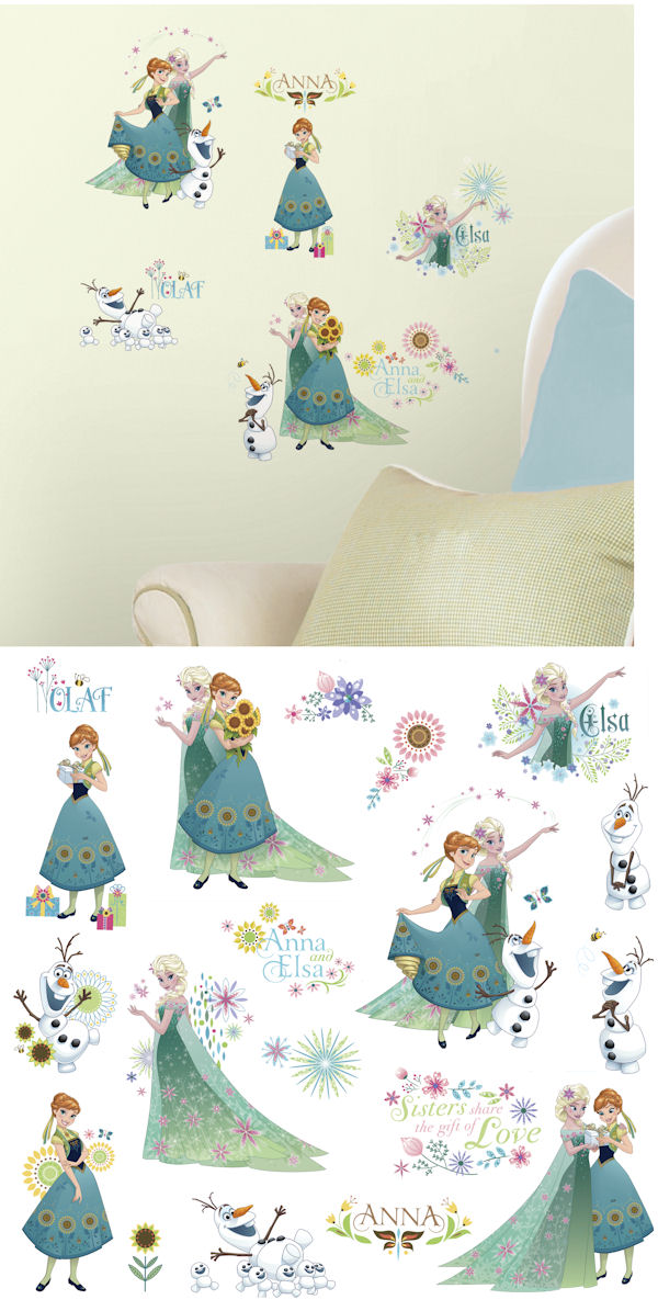 Disney Frozen Fever Peel and Stick Wall Decals - Wall Sticker Outlet