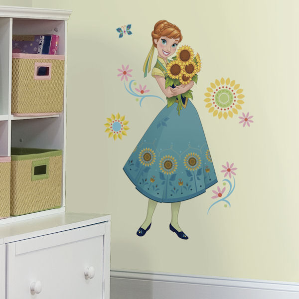 Frozen Fever Giant Anna Wall Decal - Wall Sticker Outlet