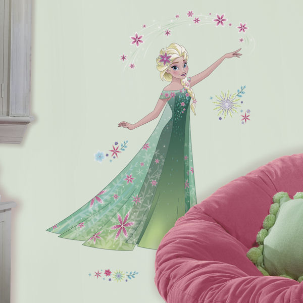 Frozen Fever Giant Elsa Wall Decal - Wall Sticker Outlet