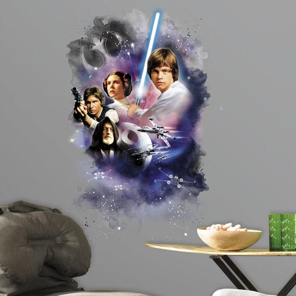 Star Wars Classic Mega Peel and Stick Giant Decal - Wall Sticker Outlet