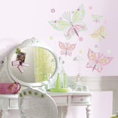 Waverly Butterflies Peel and Stick Wall Decal