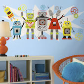 Waverly Robots Giant Peel and Stick Wall Decal