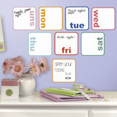 Days of the Week Planner Dry Erase Peel and Stick