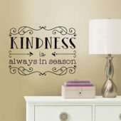 Kindness Quote Peel and Stick Wall Decals