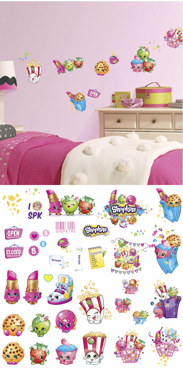 shopkins peel and stick wall decals peel and stick wall decals 2017 grasscloth wallpaper
