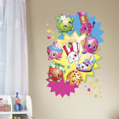 Shopkins Burst Giant Peel and Stick Wall Decals