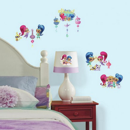 Shimmer and Shine Peel and Stick Wall Decals - Wall Sticker Outlet