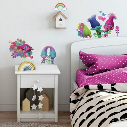 Trolls Glitter Movie Wall Decals - Wall Sticker Outlet
