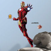 Iron Man Glow in the Dark Giant Wall Decal