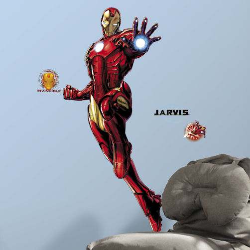 Iron Man Glow in the Dark Giant Wall Decal - Wall Sticker Outlet