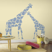 Mommy and Me Giraffe Peel and Stick Wall Decals