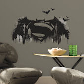 Batman vs Superman Logo Giant Wall Decal