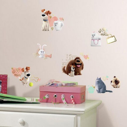 Secret Life of Pets Girls Wall Decals - Wall Sticker Outlet