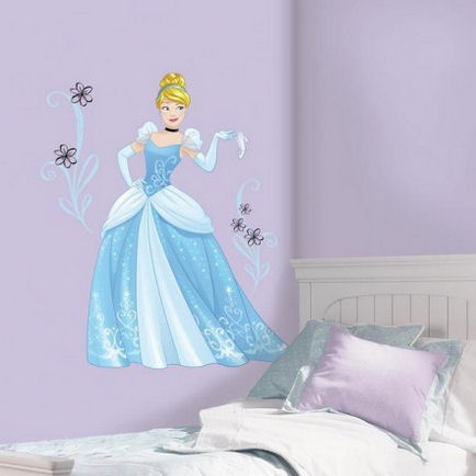 Disney Cinderella Sparkling Giant Wall Decals - Wall Sticker Outlet