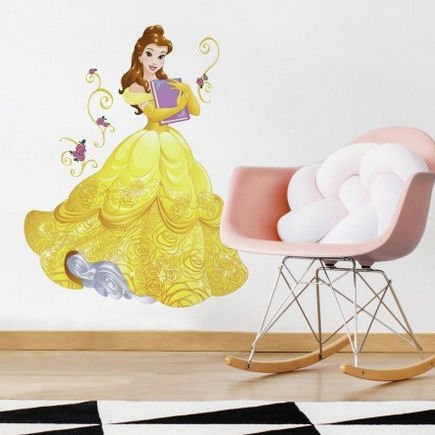 Disney Belle Sparkling Giant Wall Decals - Wall Sticker Outlet