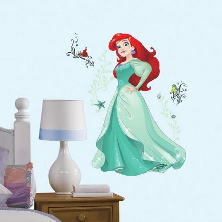 Disney Ariel Sparkling Giant Wall Decals - Wall Sticker Outlet